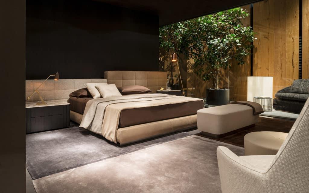 meble minotti sypialnia łóżko