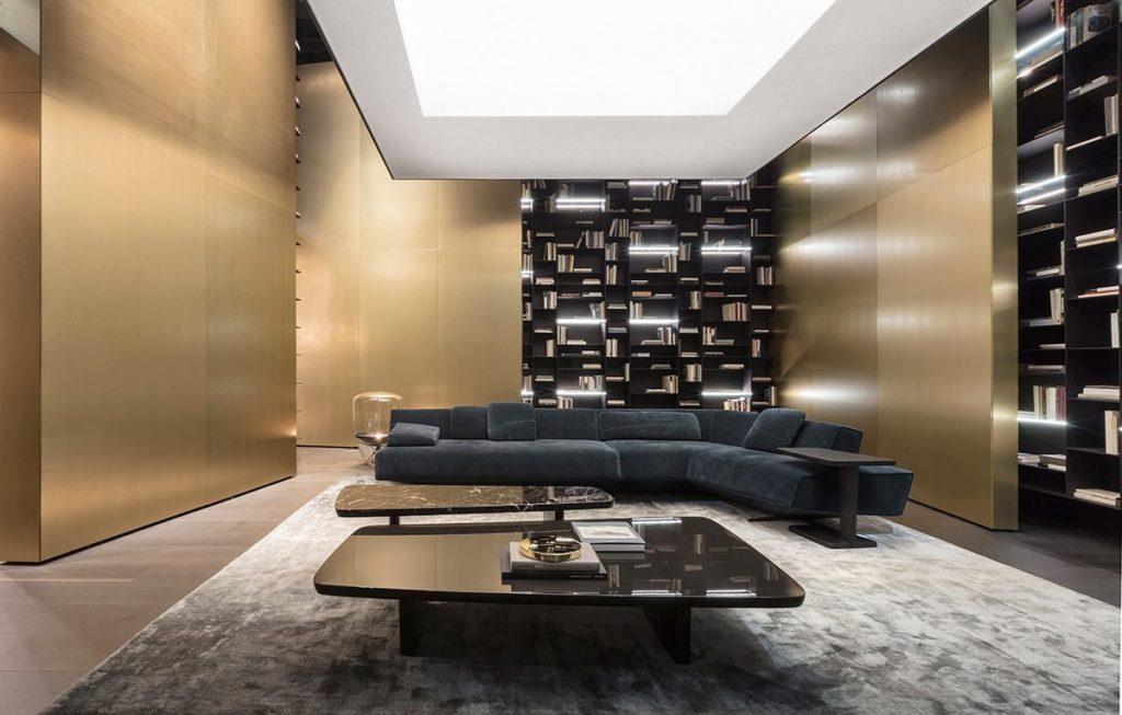nowoczesny salon meble poliform sofa