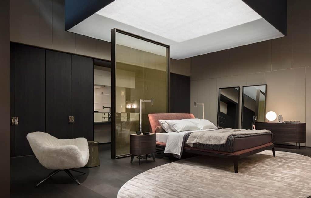 minimalistyczna sypialnia meble poliform