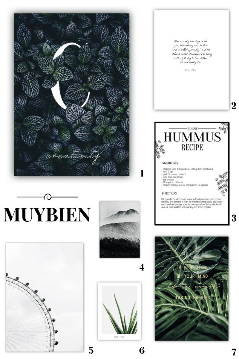 plakaty skandynawskie minimalistyczne botaniczne