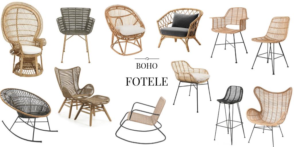 pleciony fotel i krzesło z naturalnych materiałów