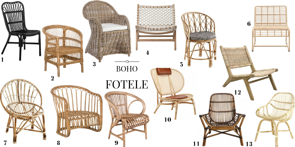 krzesło boho fotel pleciony krzesło z wikliny