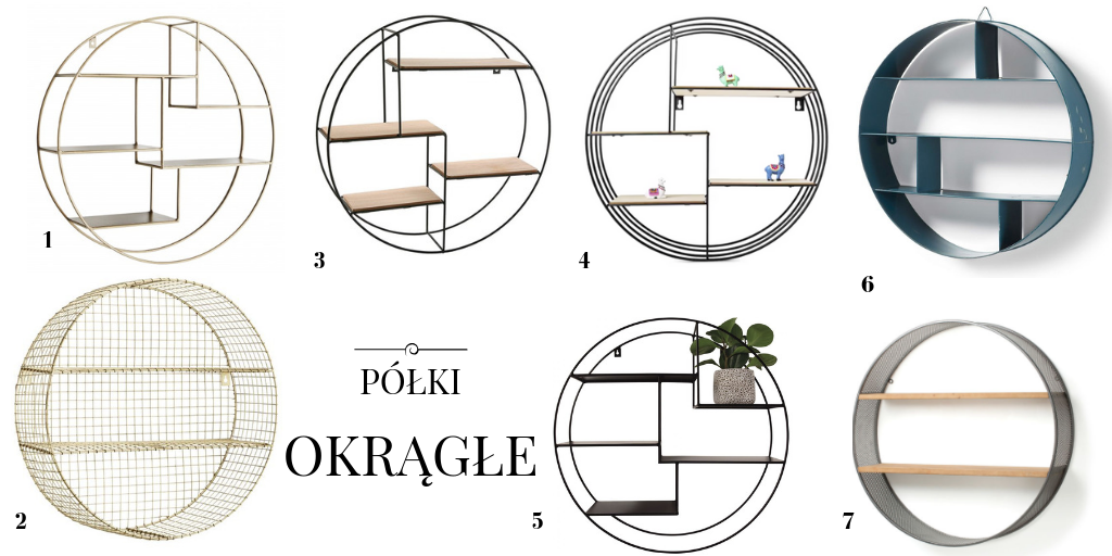 okrągła metalowa półka ścienna dekoracyjna półki okrągłe ścienne