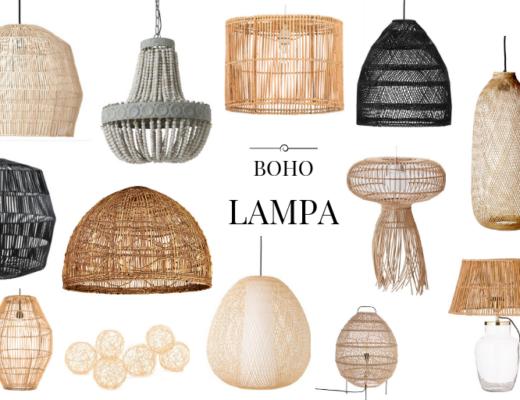 lampy z ratanu plecione lampy boho