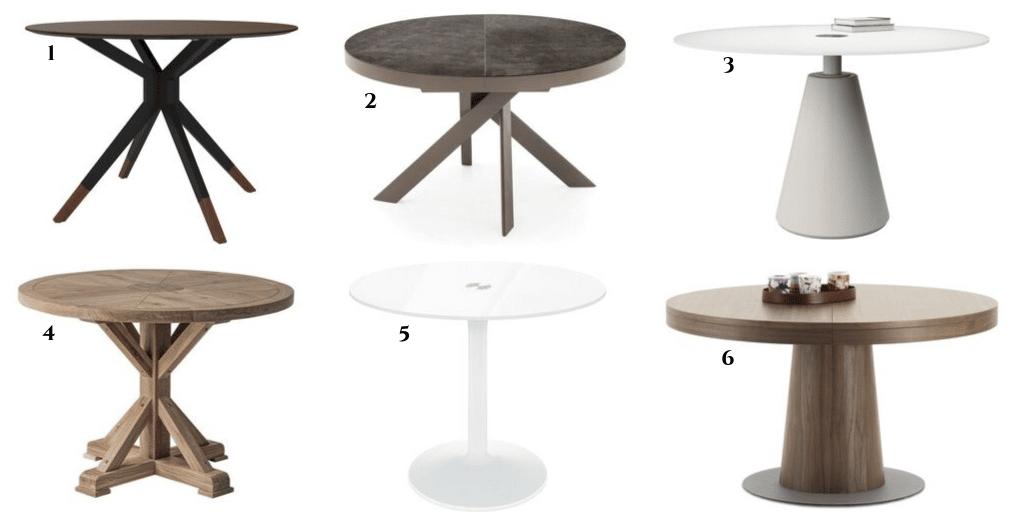 elegancki stół do jadalni z okrągłym blatem