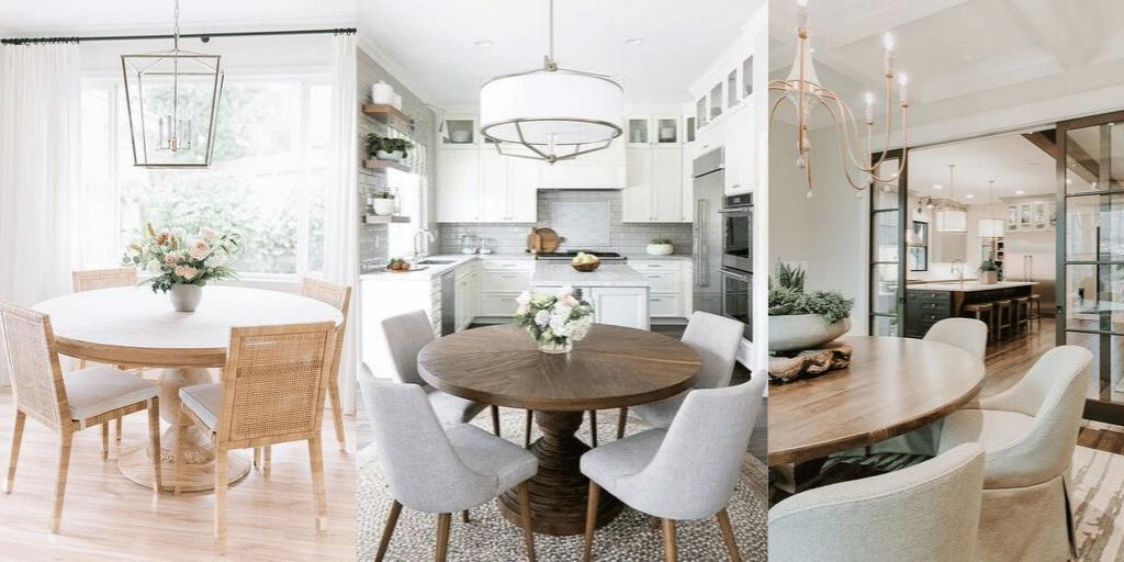 okrągły stół w kuchni